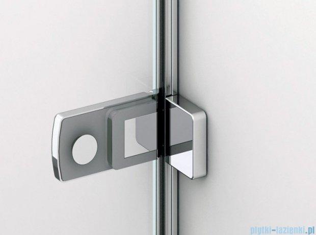 SanSwiss Melia ME1 drzwi lewe wymiary specjalne do 100cm cieniowane czarne ME1GSM11055