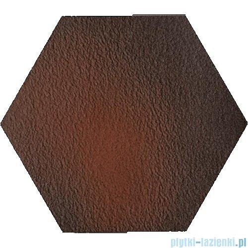 Paradyż Cloud brown duro klinkier heksagon 26x26