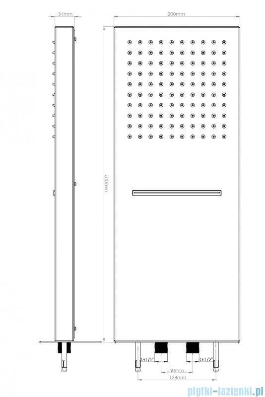 Deante Cascada MULTI BOX Głowica natryskowa NAC 092K