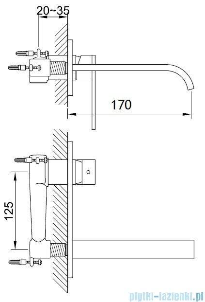 Kohlman Nexen-S Podtynkowa bateria umywalkowa SQW185U
