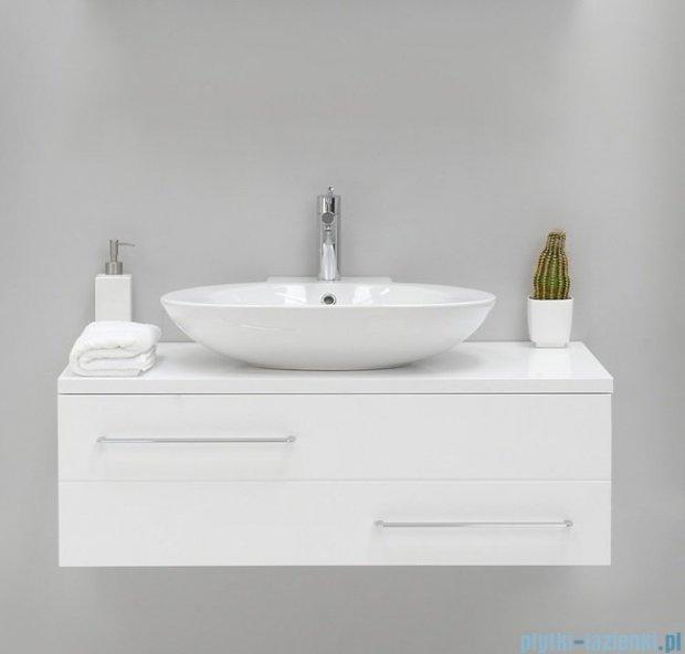 Antado Susanne szafka biała z blatem białym 95x46cm AS-140/95-WS+AS-B-140/95-WS