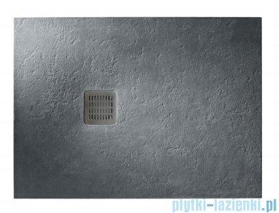 Roca Terran 200x100cm brodzik prostokątny konglomeratowy ciemnoszary AP017D03E801200