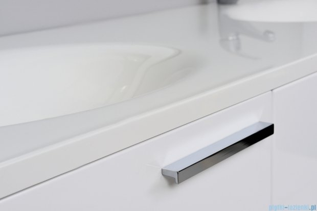 Antado Sycylia szafka z umywalką 135x50x45 biały połysk KTS-140/3-WS + UMMO-1360-03D