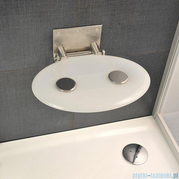 Ravak Siedzisko Ovo P- mleczne do kabin prysznicowych B8F0000001