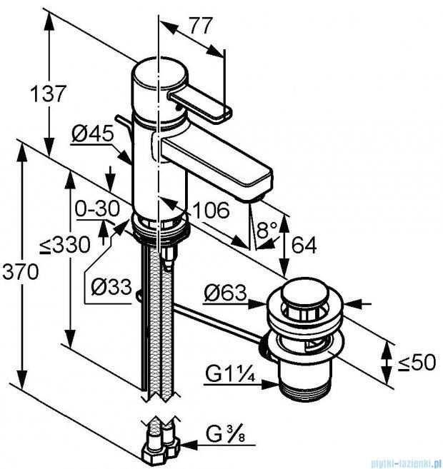 Kludi Zenta Jednouchwytowa bateria umywalkowa DN 10 chrom 382500575W