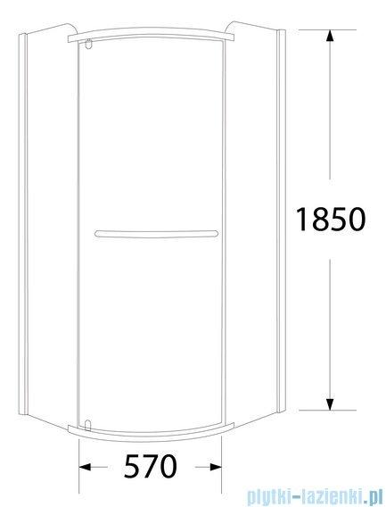 Sea Horse Sigma kabina natryskowa narożna półokrągła prawa 80x80cm szkło Moon BK001/3/RMP