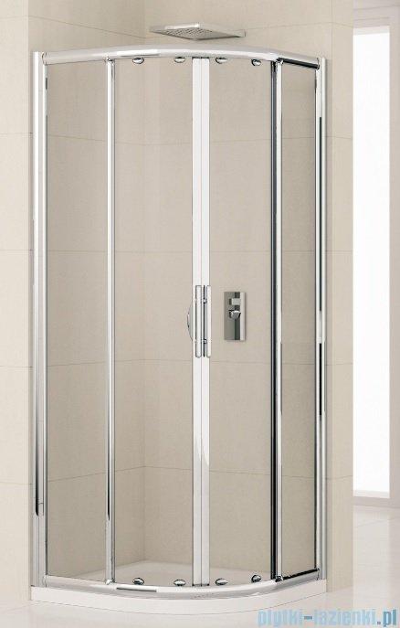 Novellini Kabiny prysznicowa półokrągła LUNES R 80x80 cm szkło przejrzyste profil biały LUNESR80-1D