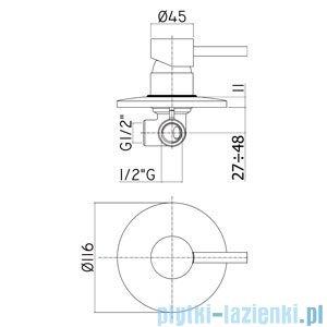 Paffoni Mieszacz podtynkowy Stick chrom mat SK010MC