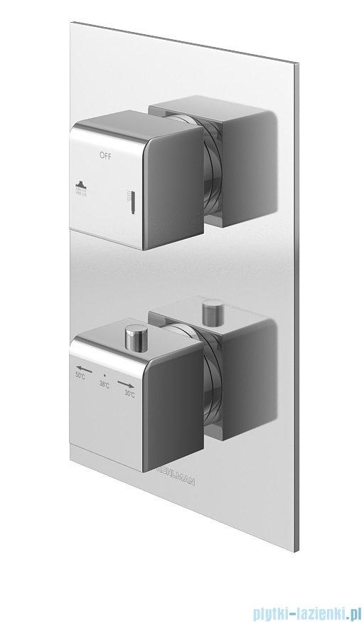 Kohlman Excelent zestaw prysznicowy z baterią termostatyczną chrom QW432HQ40