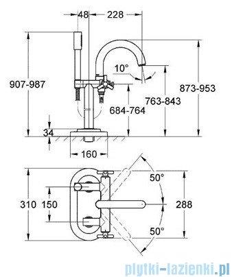 Grohe Atrio bateria wannowa DN 15 chrom 25044000
