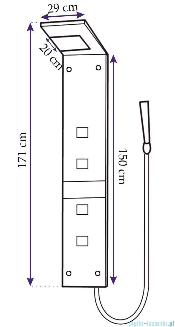 Rea panel natryskowy szklany wenge z mieszaczem CF-7059