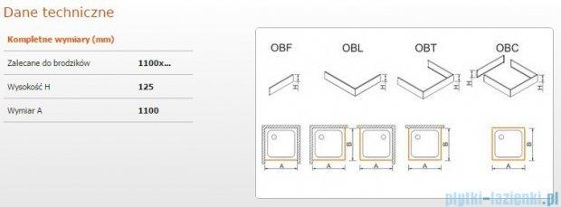 Sanplast Obudowa frontowa do brodzika OBF 110x12,5 cm 625-401-0340-01-000