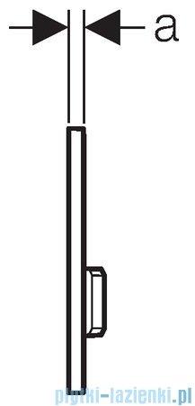 Geberit Sigma 50 przycisk spłukujący czarny/chrom szczotkowany 115.788.DW.5