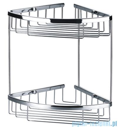 Omnires trójkątne koszyczki 20,5x20,5cm chrom 8961