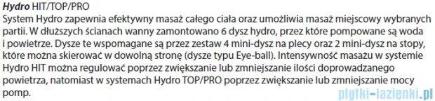 Riho Geta wanna asymetryczna 160x90cm prawa z hydromasażem HIT Hydro 6+4+2 BA86H2