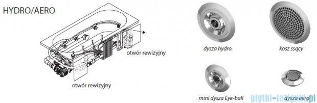 Riho Lyra wanna asymetryczna prawa 170x110 z hydromasażem Hit Hydro 6+4+2/Aero11 BA63H3