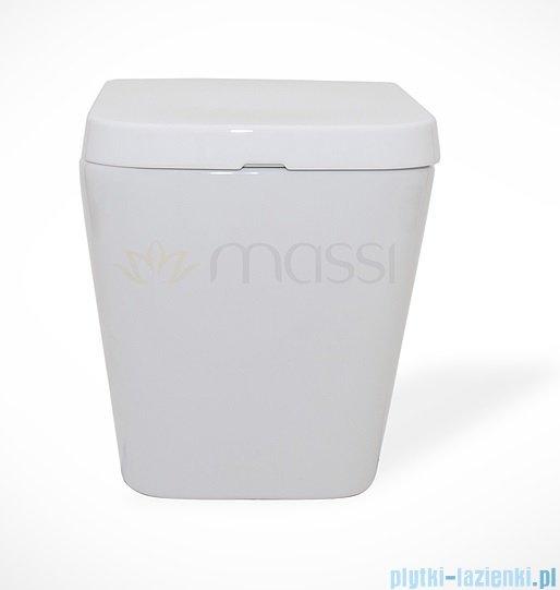 Massi Tringo miska wisząca+deska wolnoopadająca biała MSM-3073PP