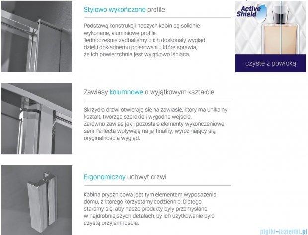 New Trendy Perfecta drzwi prysznicowe 90cm przejrzyste EXK-1168