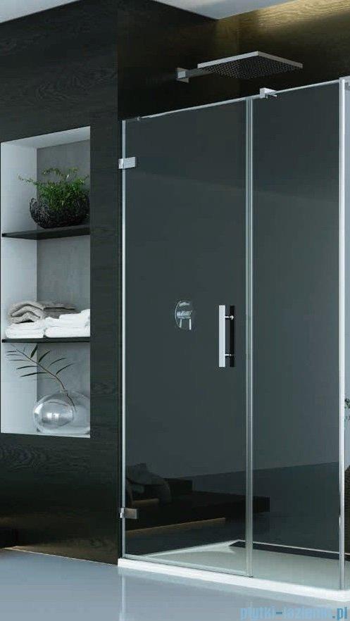 SanSwiss Pur PU31P Drzwi lewe wymiary specjalne do 160cm cieniowane czarne PU31PGSM21055