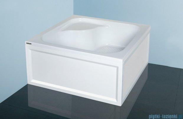 Sanplast Brodzik kwadratowy Classic 80x80x28cm z siedziskiem + stelaż 615-010-0240-01-000