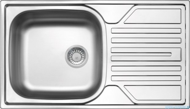 Deante Legato zlewozmywak 1-komorowy z ociekaczem 76x43,5 cm z odpływem 3,5 cale satyna ZEL 0113