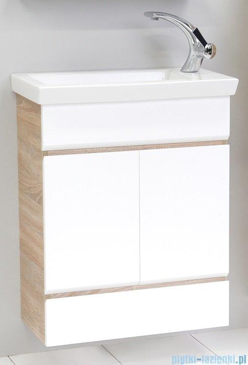 Antado Gabi szafka podumywalkowa 68x40x71 dąb Sonoma+biały GBY-140/70-3025/WS
