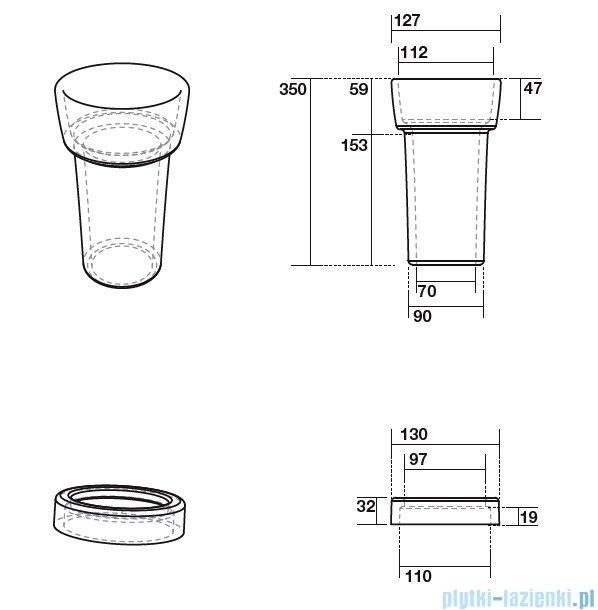 Kerasan Retro ceramiczny łącznik do WC poziomego 7548