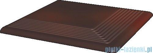 Paradyż Cloud brown klinkier stopnica narożna 30x30