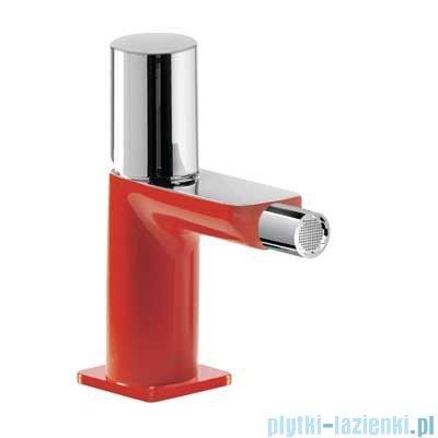 Tres Loft Colors Bateria bidetowa z korkiem automatycznym kolor czerwony 200.120.02.RO.D