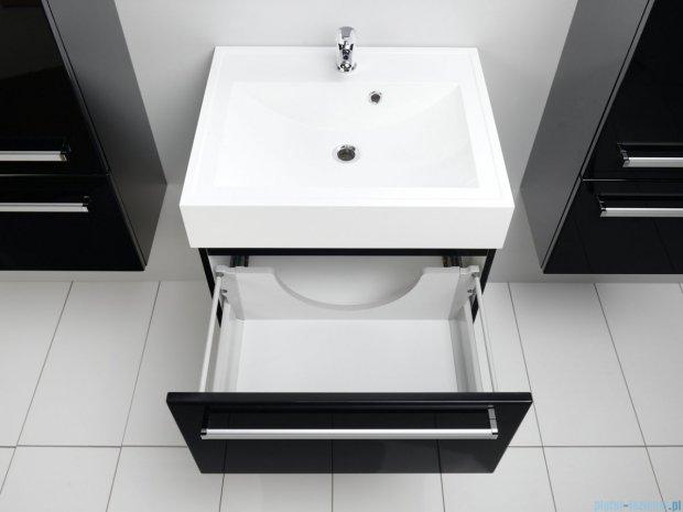 Antado Variete szafka z umywalką, wisząca 33,5x60x50 czarny połysk FM-442/6GT-9017 + UNA-600