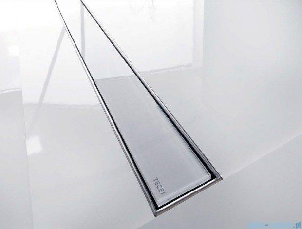Tece Ruszt prosty ze szkła Tecedrainline 120cm szkło białe 6.012.91