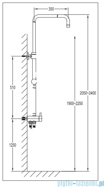 Omnires Darling kolumna uniwersalna natryskowa chrom DA5004