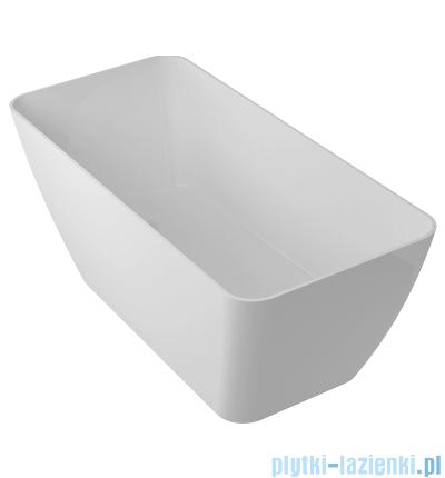 Omnires Marble+Parma WW BP wanna wolnostojąca 159x70cm biały połysk