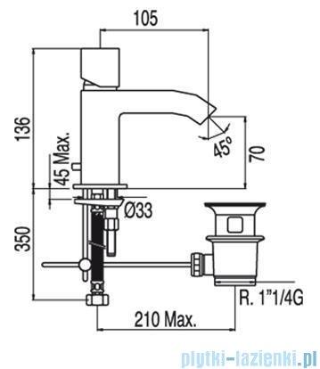 Tres Cuadro-Tres Bateria umywalkowa z perlatorem 1.07.103