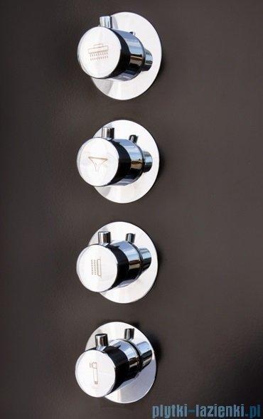 Corsan Akoja Panel natryskowy z mieszaczem czarny A-025MCZARNY