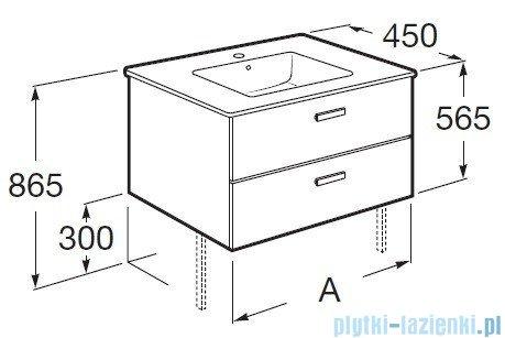 Roca Victoria Basic Zestaw łazienkowy Unik umywalka z szafką 60cm wenge A855884201