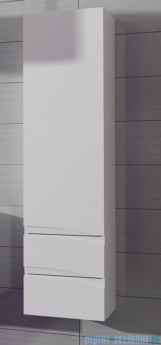 Antado Wave słupek z szufladami prawy 40x31,5x150cm biały połysk VA-160/2R-WS