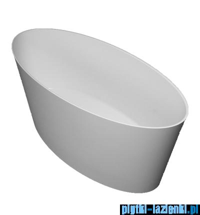 Omnires Roma wanna 159x72cm wolnostojąca biała mat MARBLE+ROMA159BM