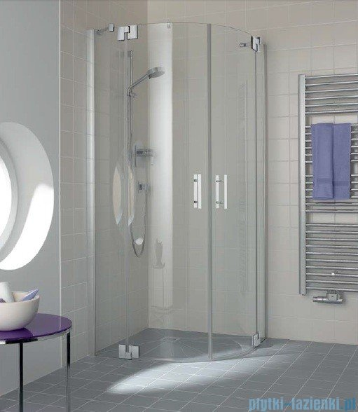 Kermi Filia Xp Kabina ćwierćkolista, drzwi wahadłowe, szkło przezroczyste KermiClean, profil srebro 100x200cm FXP5510120VPK