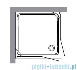 Kerasan Retro Kabina kwadratowa szkło dekoracyjne piaskowane profile złote 90x90 9145P1