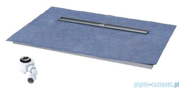 Schedpol brodzik posadzkowy podpłytkowy ruszt Circle 100x80x5cm 10.007/OLDB/CE