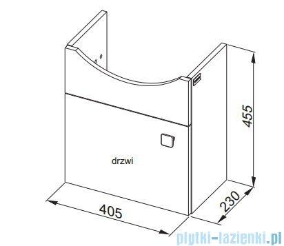 Aquaform Flex szafka podumywalkowa 45cm biała 0401-640102