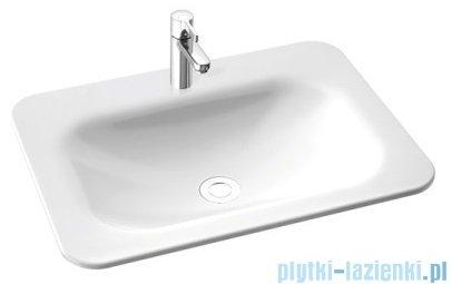 Marmorin Tytan umywalka nablatowa 62x46 bez otworu przelewowego bez otworu na baterie biała 586062020010