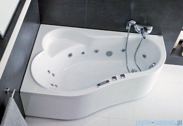 Poolspa Wanna asymetryczna LEDA 160x100 lewa + hydromasaż Smart 2 PHAH410ST2C0000