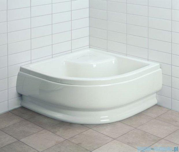 Aquaform Standard brodzik półokrągły 80x80x25,5cm głęboki z siedziskiem i systemem antypoślizgowym 18601