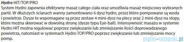 Riho Geta wanna asymetryczna 170x90cm prawa z hydromasażem PRO Hydro 6+4+2 BA88P6