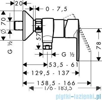 Hansgrohe Talis E² Jednouchwytowa bateria prysznicowa DN15–montaż natynkowy 31662000