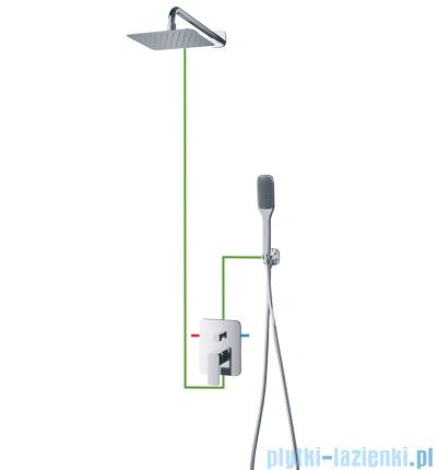 Omnires Apure SYS kompletny łazienkowy system podtynkowy chrom SYSAP10