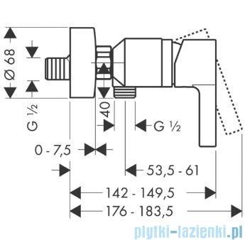 Hansgrohe Metris S Jednouchwytowa bateria prysznicowa DN15 montaż natynkowy 31660000