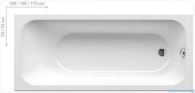 Ravak Chrome Wanna prostokątna biała 160x70cm C731000000